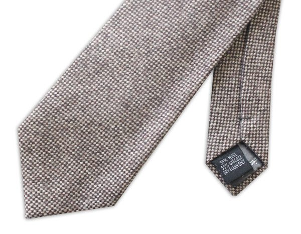 LIGHT Brown/White mottled Tweed Tie -0