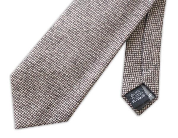 LIGHT Brown/White mottled Tweed Tie