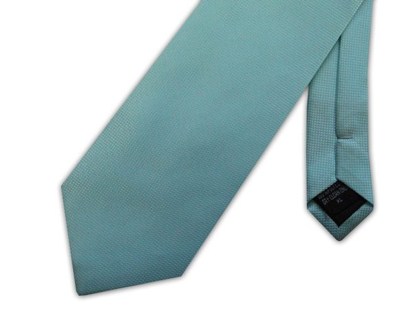 Duck egg blue MICRO GRID XL TIE-0