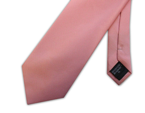 Pale pink clip-on tie -0