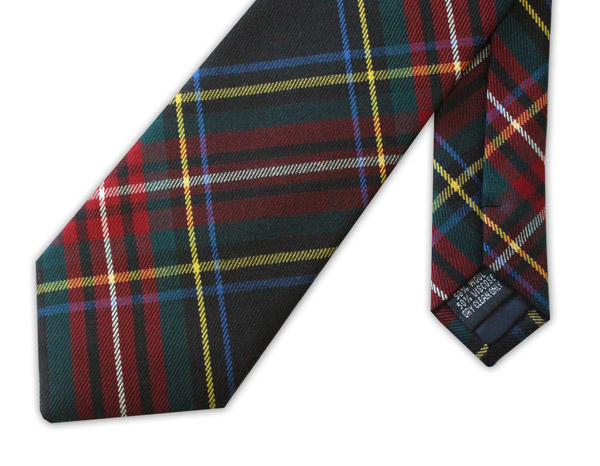 Green and Red TARTAN TIE