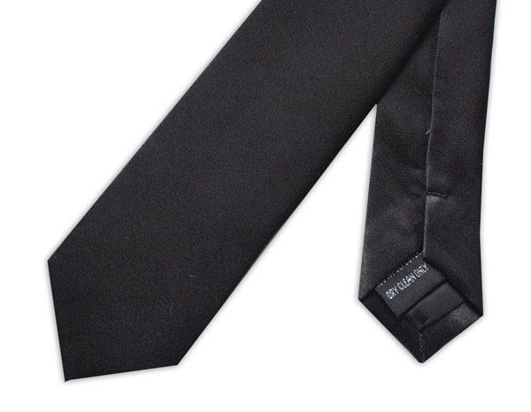 SKINNY BLACK TIE-0