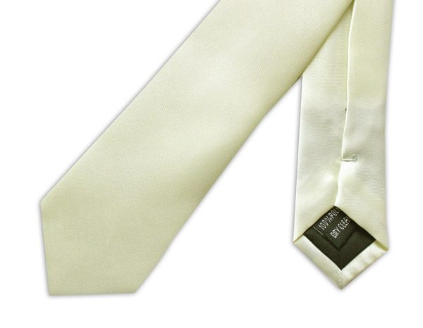 SKINNY PALE LEMON YELLOW TIE-0