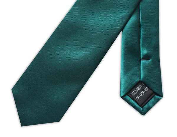 SKINNY EMERALD GREEN TIE-0