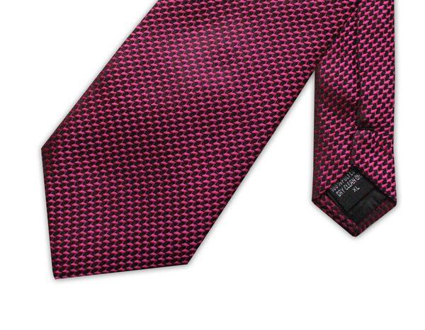 pink/black geometric clip-on tie -0