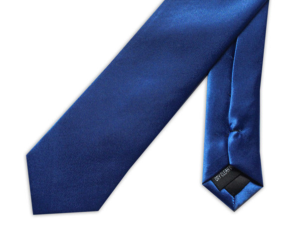 SKINNY ROYAL BLUE TIE-0