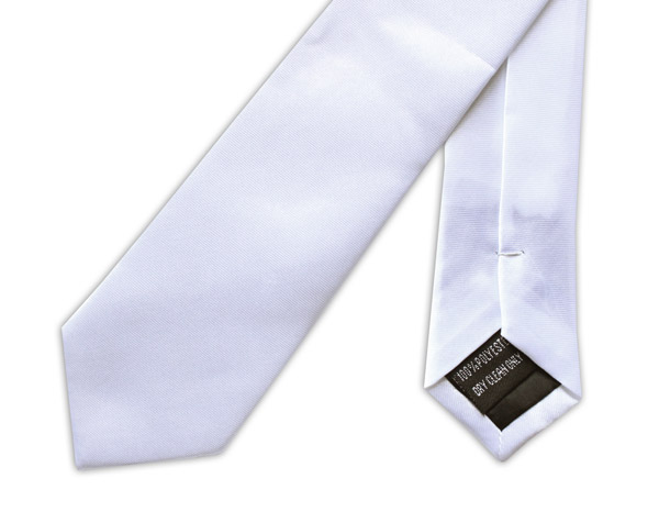 SKINNY WHITE TIE-0