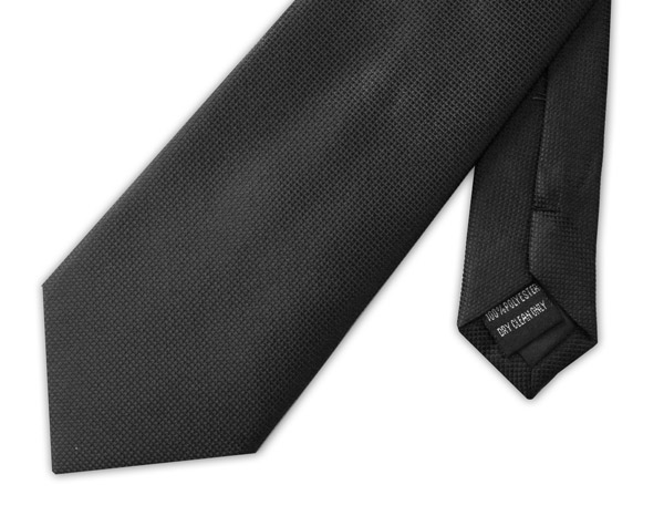Black clip-on tie