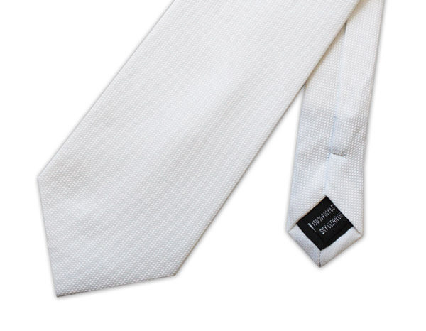 WHITE PLAIN MICRO GRID TIE-0