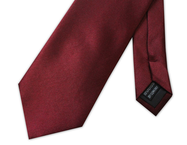 BURGUNDY POLY-SATIN TIE