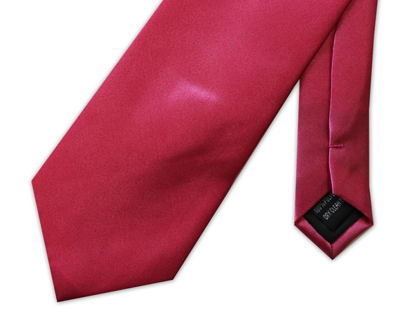 RED POLY-SATIN TIE