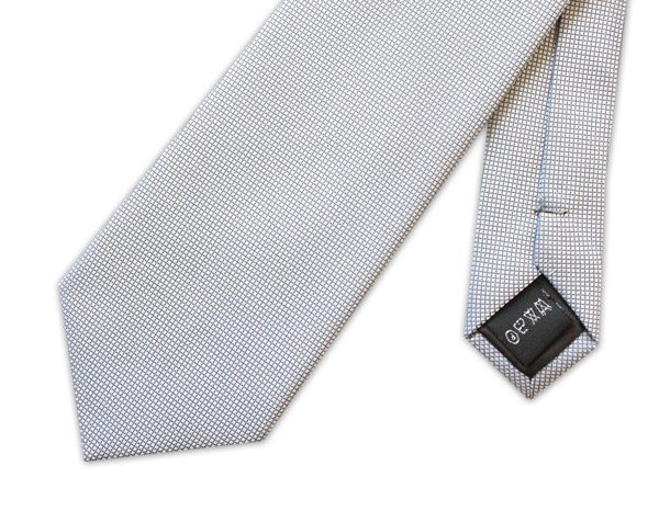 LIGHT GREY MICRO GRID TIE-0