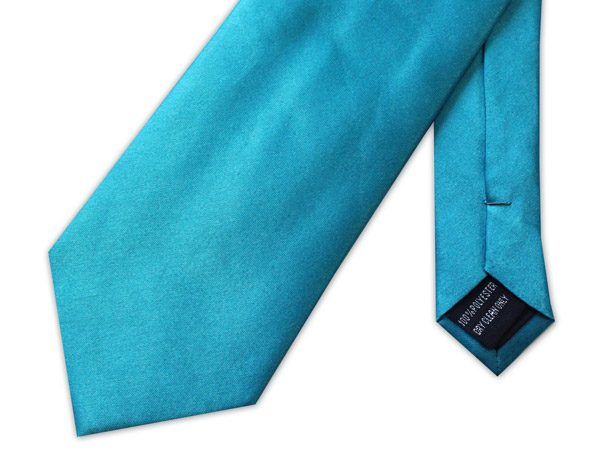 LIGHT BLUE POLY-SATIN TIE-0