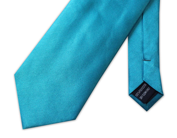 LIGHT BLUE POLY-SATIN TIE