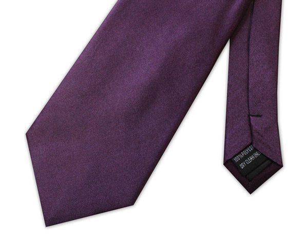 DARK PURPLE POLY-SATIN TIE-0