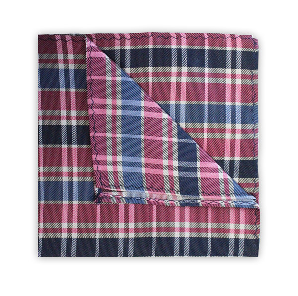 NAVY/BLUE/PINK CHECK SQUARE