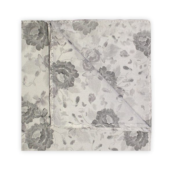 SILVER/GREY FLORAL SQUARE-0