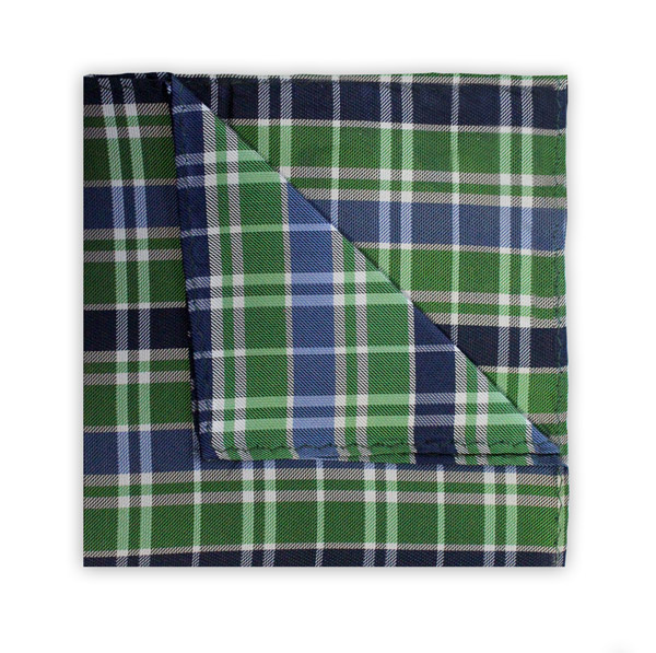 NAVY/BLUE/GREEN CHECK SQUARE