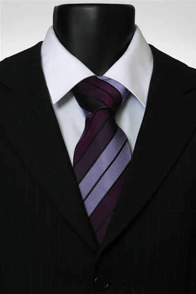 PURPLE/LILAC STRIPE TIE-0