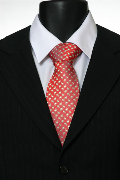 RED/YELLOW PAISLEY TIE-0