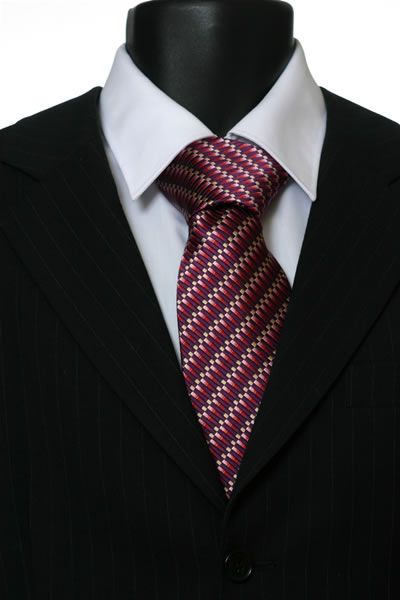 RED GEOMETRIC STYLE TIE-0