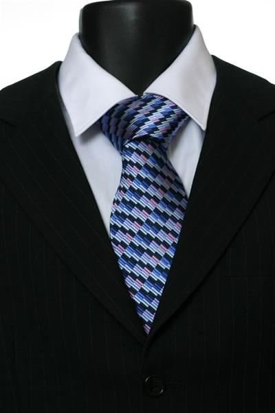 BLUE/PURPLE GEOMETRIC STYLE TIE-0