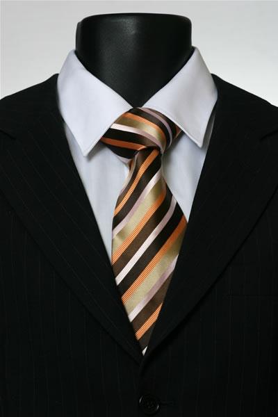 BROWN/ORANGE/GOLD STRIPE TIE-0