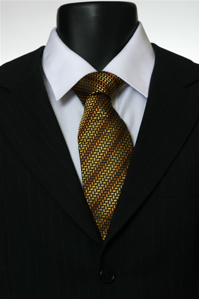 YELLOW/ORANGE/BROWN STRIPE TIE-0
