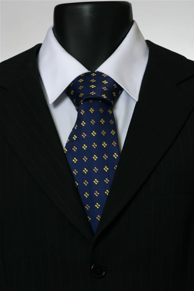 NAVY/YELLOW DIAMOND TIE-0