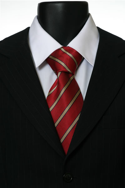 RED/GOLD STRIPE TIE-0