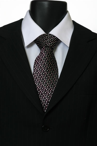 BROWN MULTI SPOT TIE-0