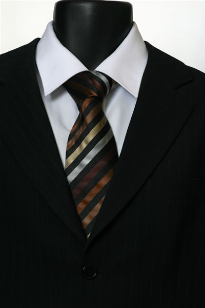 BLACK/BROWN STRIPE TIE-0
