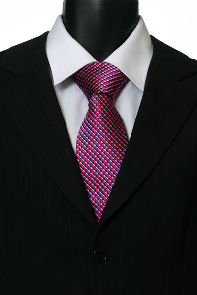 PINK/PURPLE GEOMETRIC TIE-0