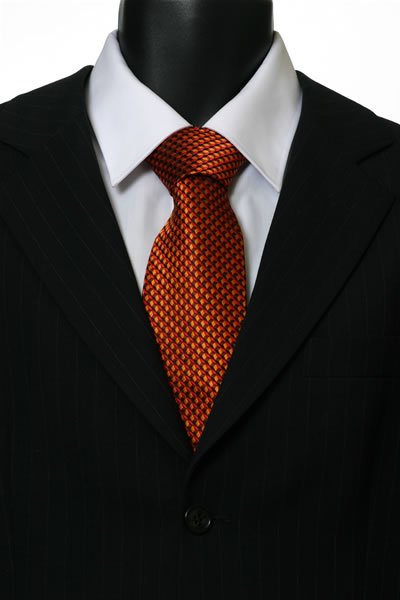 ORANGE/RED GEOMETRIC TIE-0