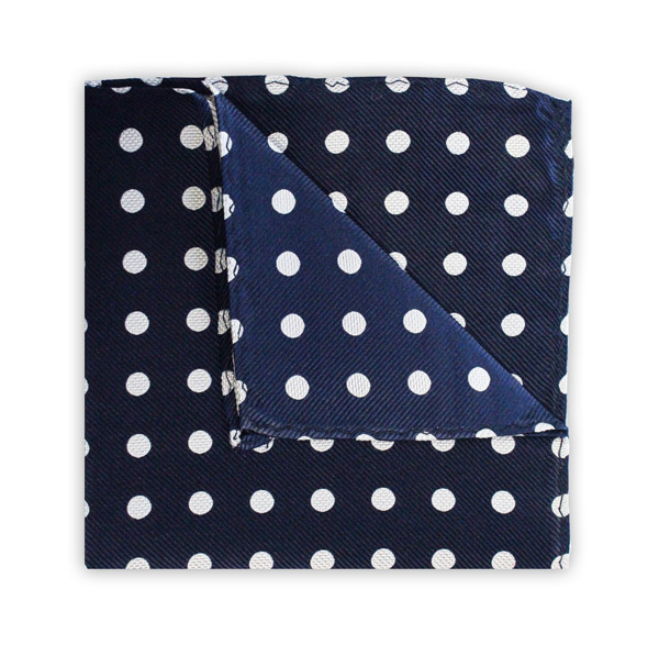 NAVY/WHITE POLKA DOT SQUARE