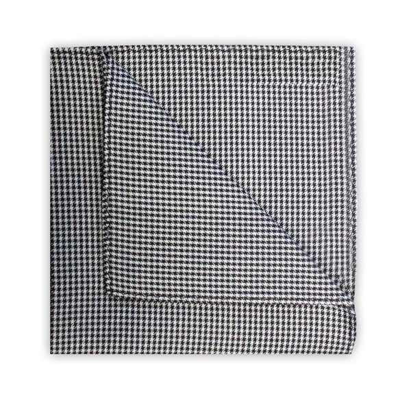 BLACK HOUNDSTOOTH SQUARE-0