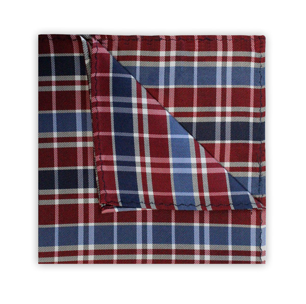 NAVY/BLUE/RED CHECK SQUARE