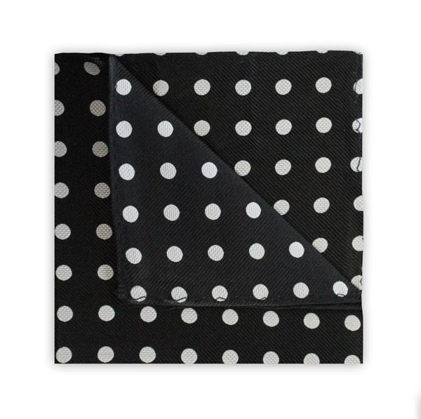 BLACK/WHITE POLKA DOT SQUARE