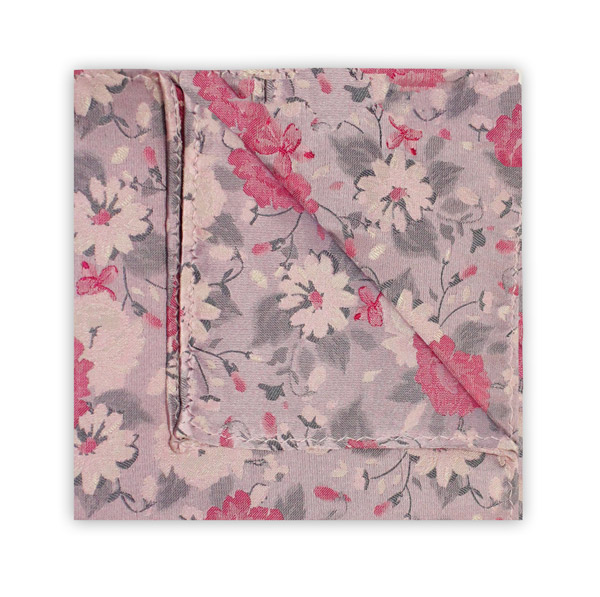PINK/GREY FLORAL SQUARE