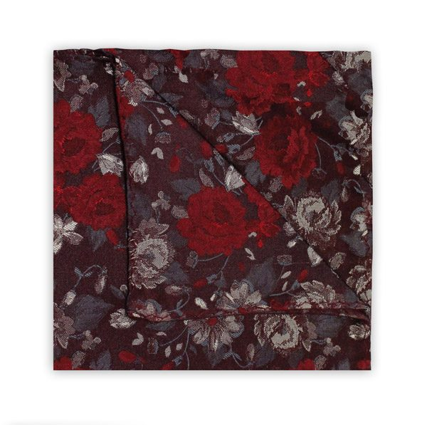 BURGUNDY/RED FLORAL SQUARE-0