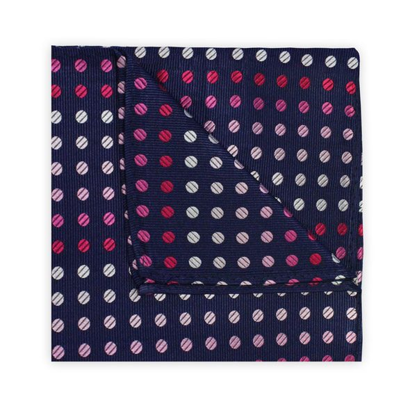NAVY/PINK SPOT SQUARE-0