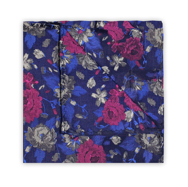 NAVY/PINK FLORAL SQUARE