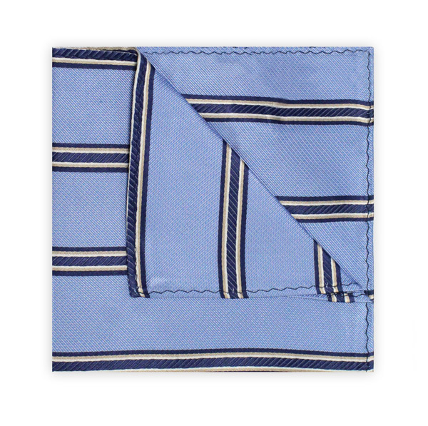 BLUE/NAVY STRIPE SQUARE