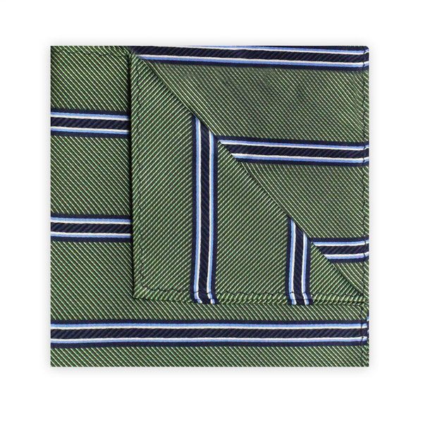 GREEN/BLUE STRIPE SQUARE-0