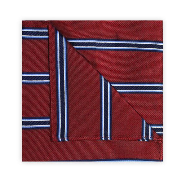 BURGUNDY/NAVY STRIPE SQUARE-0