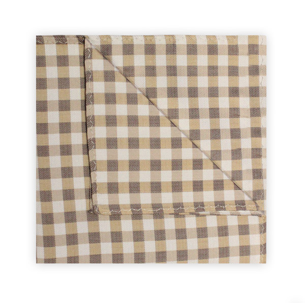 BEIGE/BROWN GINGHAM SQUARE