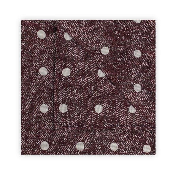 BURGUNDY/WHITE MOTTLED SPOT SQUARE-0