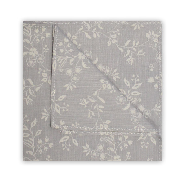 GREY/WHITE FLORAL SQUARE-0