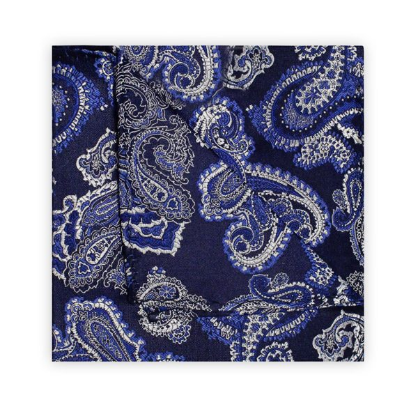 NAVY/BLUE/WHITE PAISLEY SQUARE-0