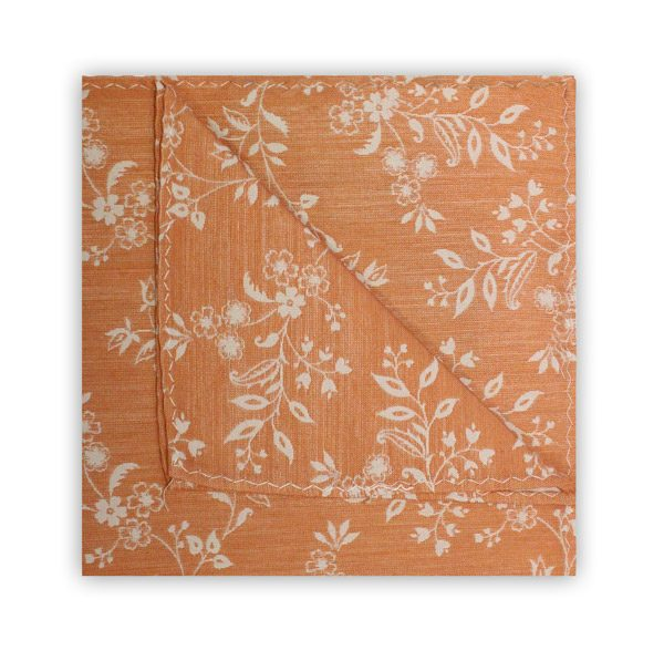 ORANGE/WHITE FLORAL SQUARE-0